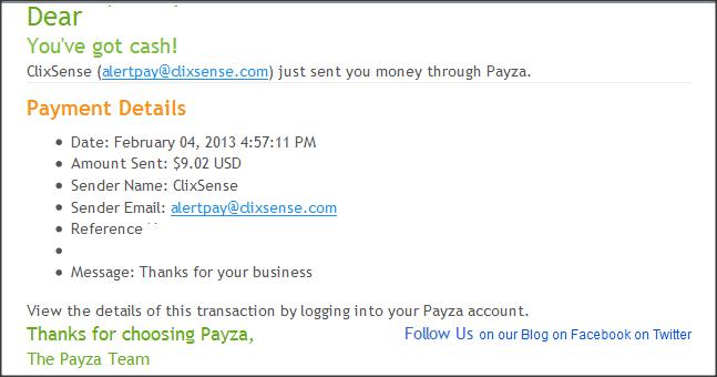 ClixSense Payment Proof 2013