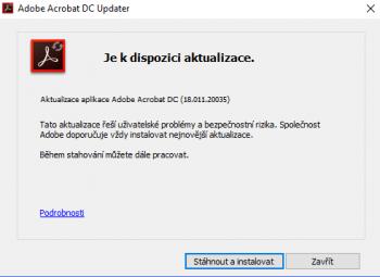 Re: Adobe Acrobat XI Pro 11.0.18 CZ